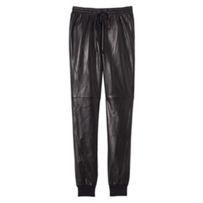 Perforated Leather Track Pants