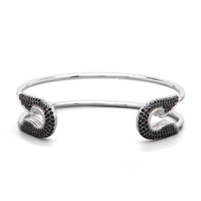 Bejeweled Safety Pin Cuff