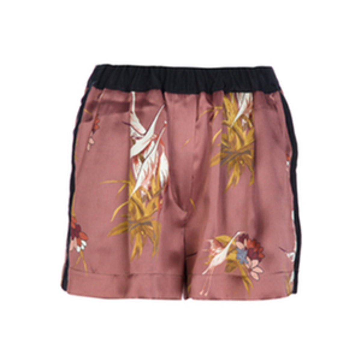 Printed Silk Shorts