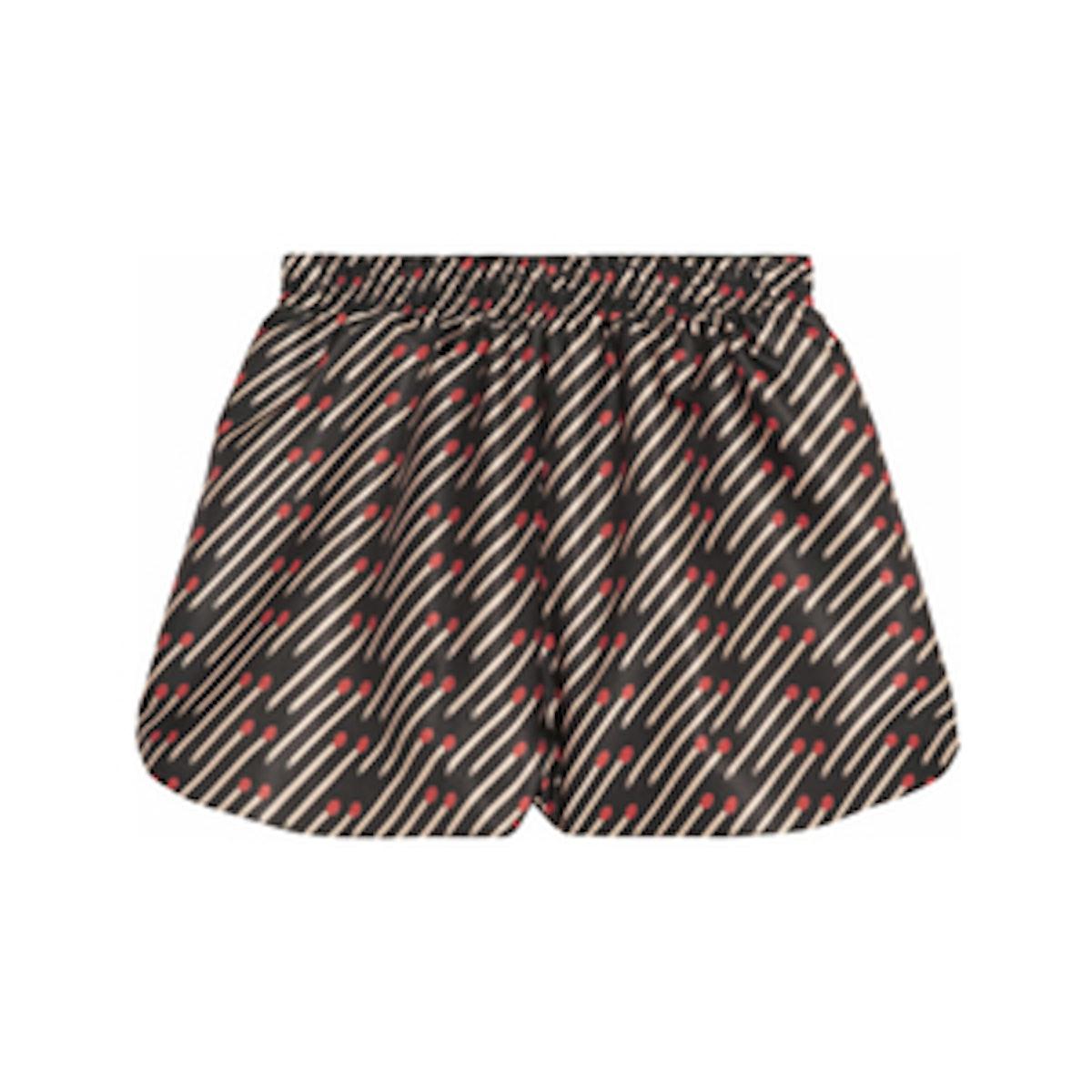 Sullie Matchstick-Print Shorts