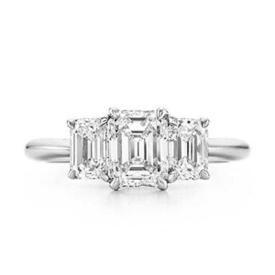 Emerald Cut 3 Stone Ring