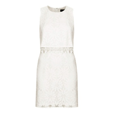 Crop Overlay Lace Dress