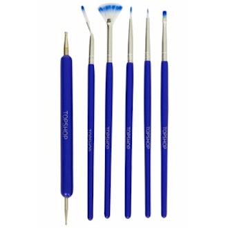 Nail Art Brush Kit in Blue