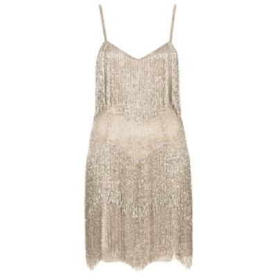 x Kate Moss Beaded Fringe Dress