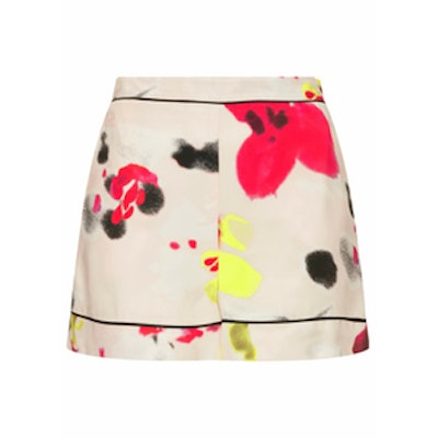 Blurred Floral Print Shorts