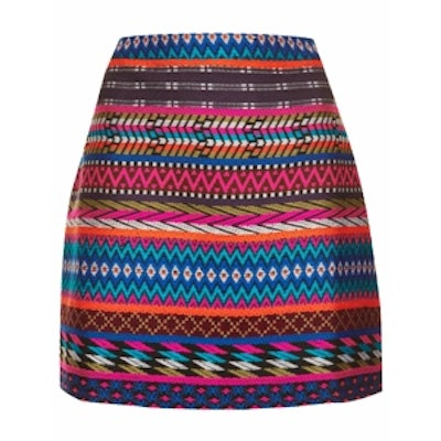 Embroidered A Line Skirt