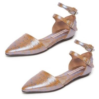 Metallic Cut Out Sandals