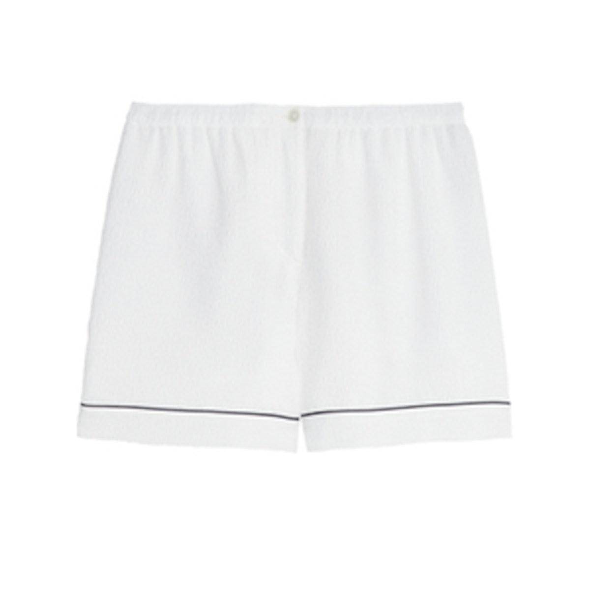 Silk-Cloque Shorts