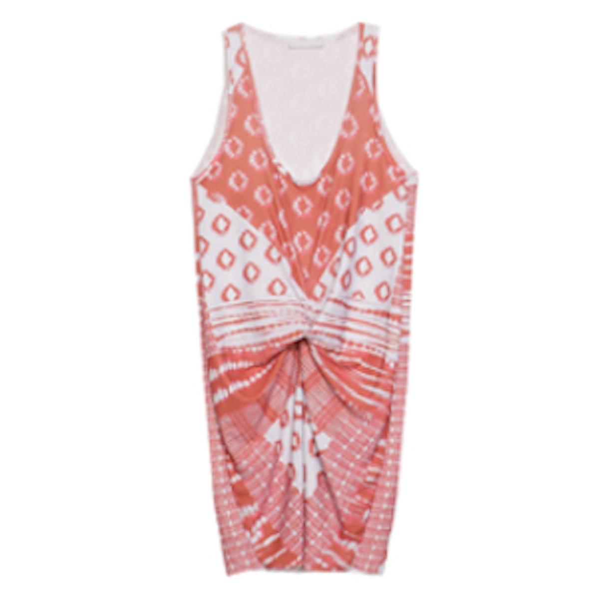 Printed Gather Dress