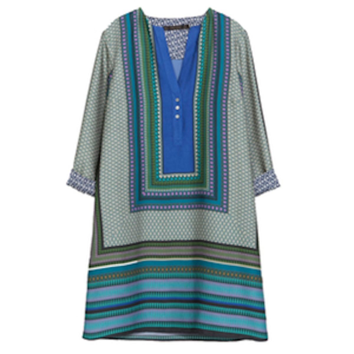 Printed Caftan Dress