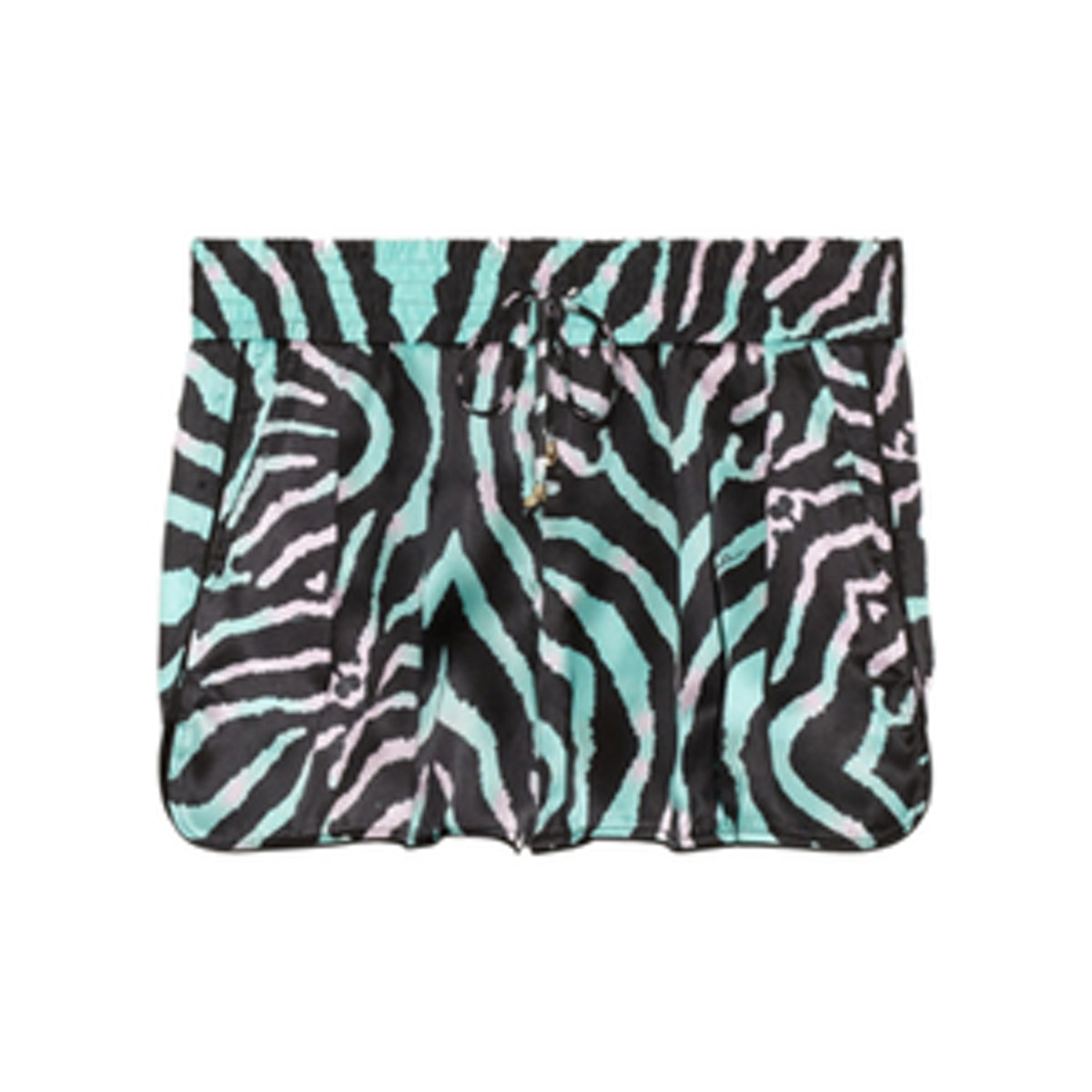Zebra Print Silk Shorts