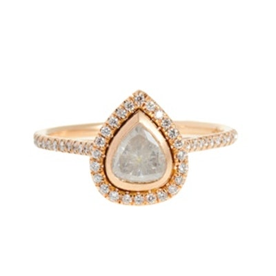 Pear Shape Pave Ring