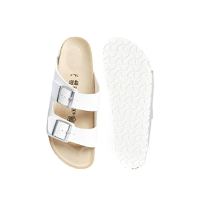 Arizona Sandal in White Leather