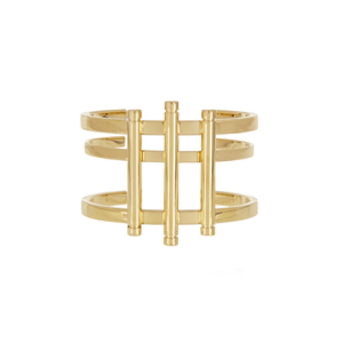 Gold-Tone Bar Cuff