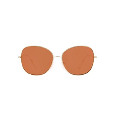 Daria Sunglasses in Light Gold and Peach