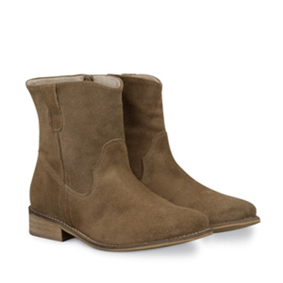 Clay Boots in Taupe Suede