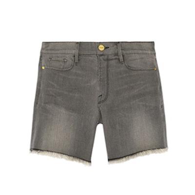 Cutoff Stretch Denim Shorts