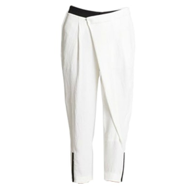 Sugar Crossover-Front Cropped Pants