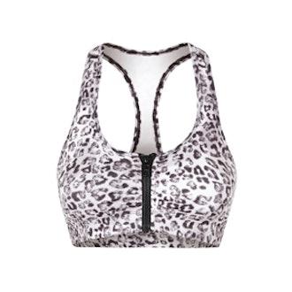 Lori Snow leopard Sports Bra