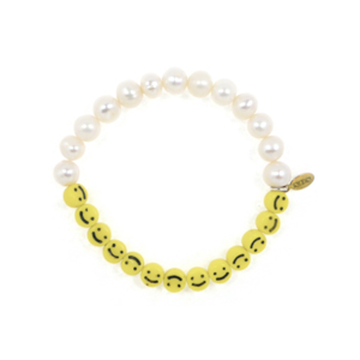 Smiley Face Pearl Bracelet
