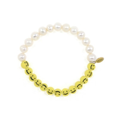 Smiley Face Pearl Bracelet