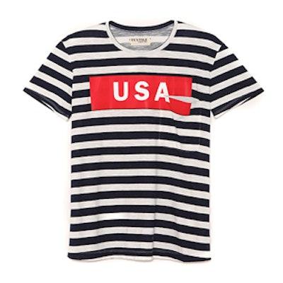 USA Wide Stripe Bowery Tee