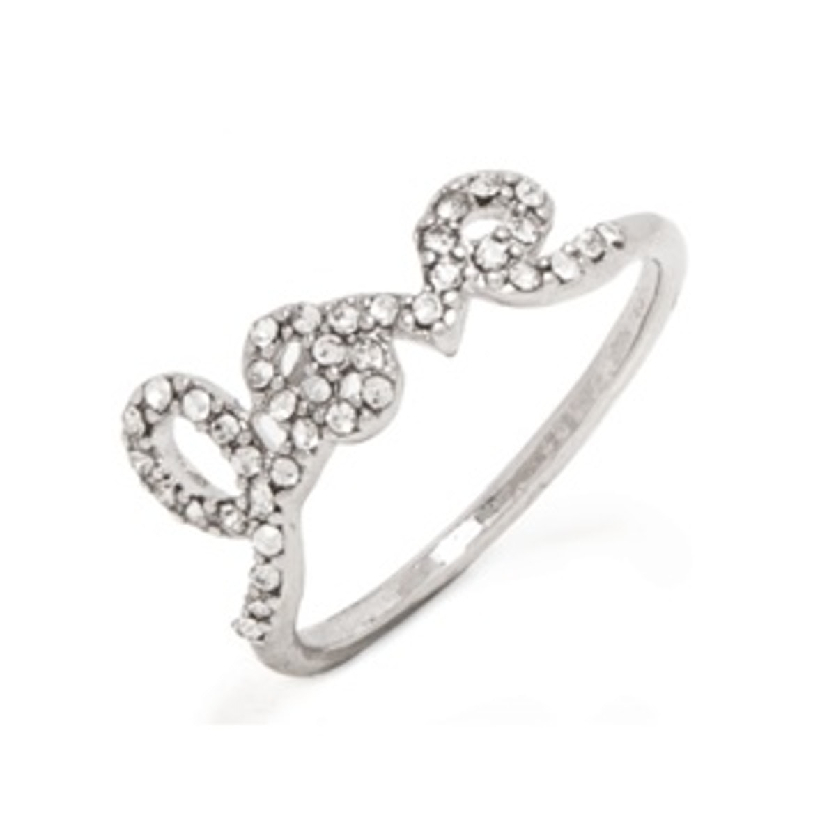 Cursive Pave Love Ring