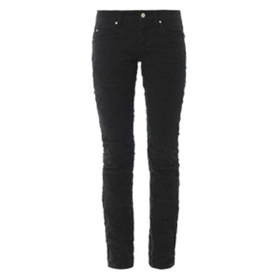 Stanford Origami-Effect Skinny Jeans