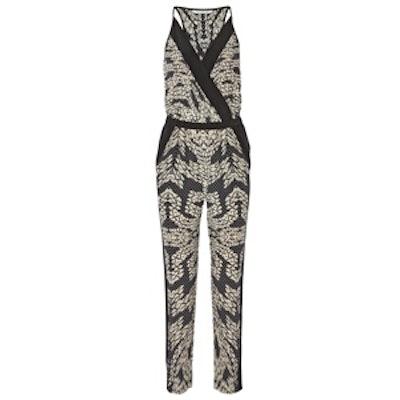 Shany Printed Silk Jumpsuit