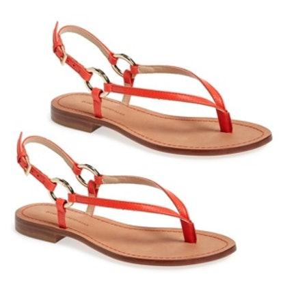 Cailin Thong Sandal in Tangerine