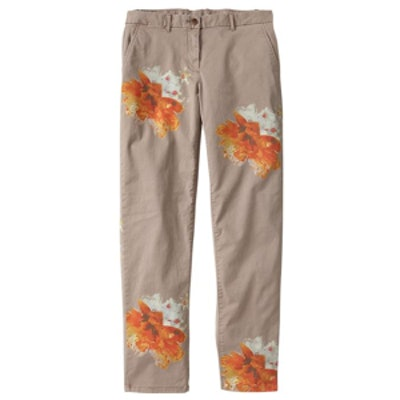 Floral Broken In Straight Khakis