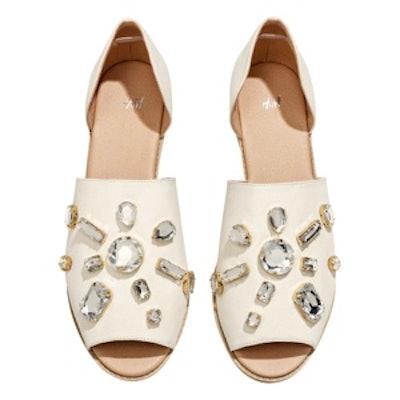 Sandals with Rhinestones