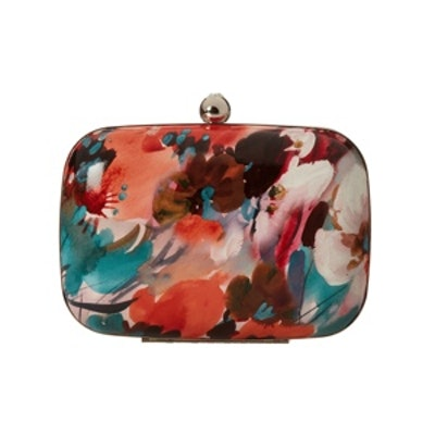 Patent Floral Minaudiere