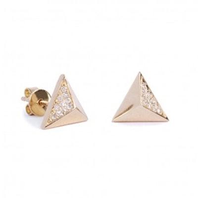 Triangle Spike Earrings
