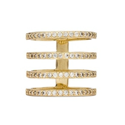 Pave 4 Tier Ring
