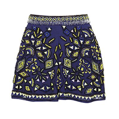 Blue Embellished Short
