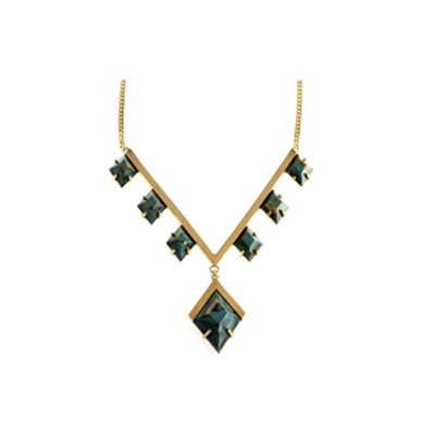 Golden Diamond Vine Necklace