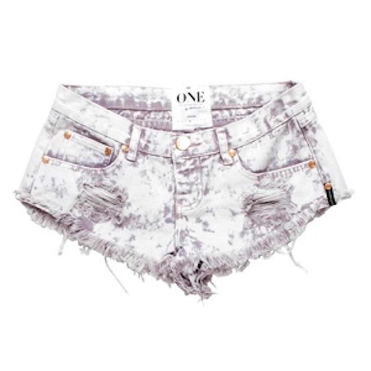 Tie Dye Denim Shorts