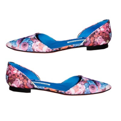 Royal Composition Manolo Blahnik Flats