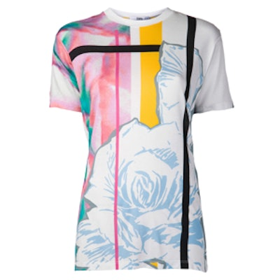 Abstract Rose Print Tee