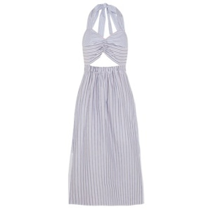Cutout Striped Dress