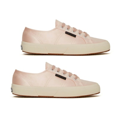 Satin Sneaker in Light Pink