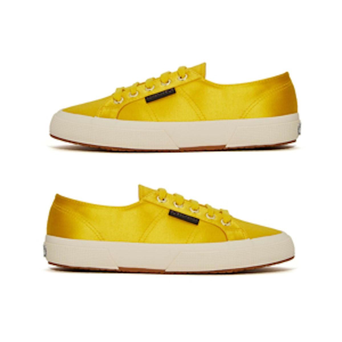 Satin Sneaker in Yellow
