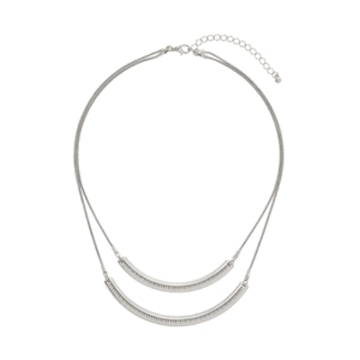 Double Engraved Bar Necklace