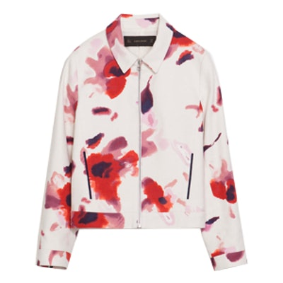 Short Floral Print Blazer