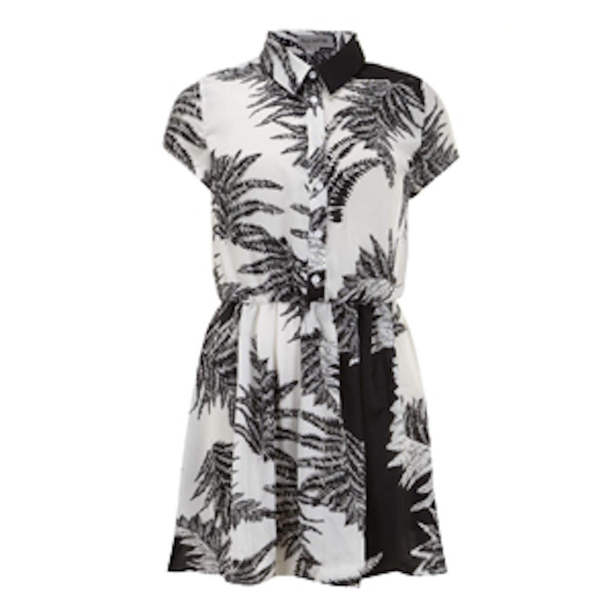 Black & White Fern Dress