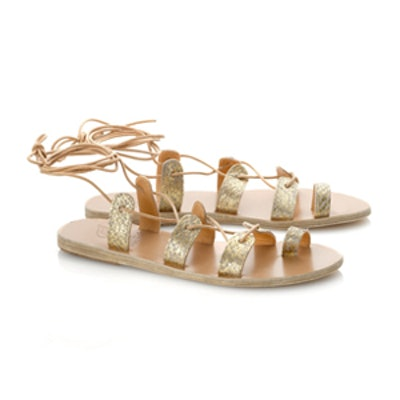 Gold Salmon Leather Alcyone Sandals