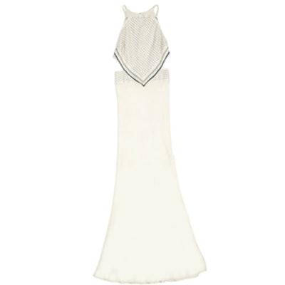 Bandana Print Halter Cutout Dress