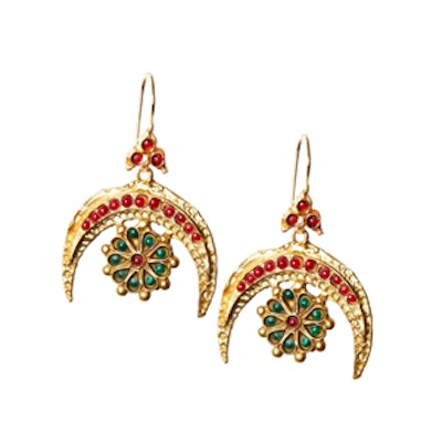 Turkish Red Crescent Earrings