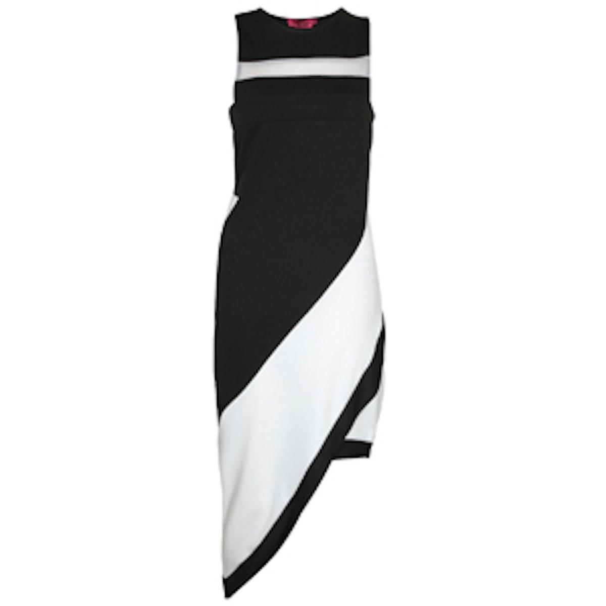 Annabelle Asymmetric Monochrome Dress